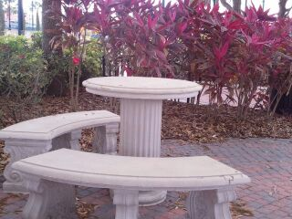 Stone Table and benches
